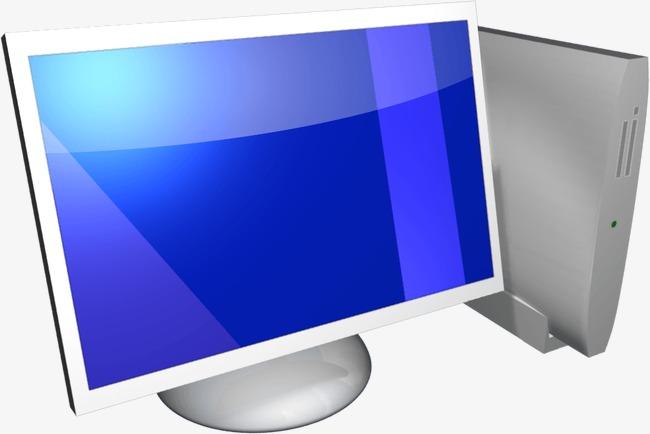 Ordinateur bureau blanc simple image png pour le téléchargement libre
