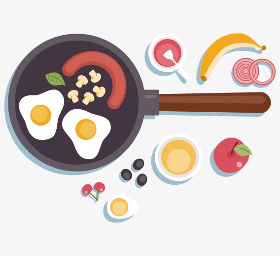 Utensilios de cocina comida vector western huevo sonrisa - Utensilios de cocina de diseno ...