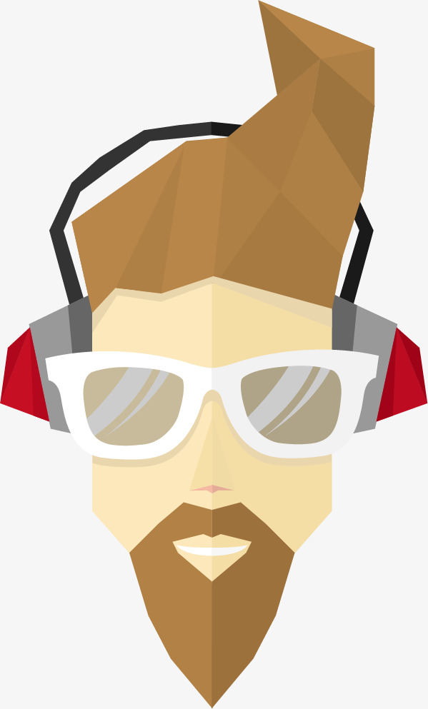 Flat pack of cool male avatars vector | free download.