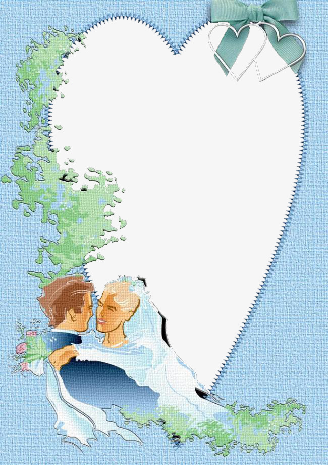 Couple Border, Lovers, Frame, Light Blue PNG Image and Clipart for ...