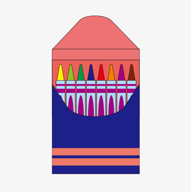 Crayon Box Pattern Png Image And Clipart