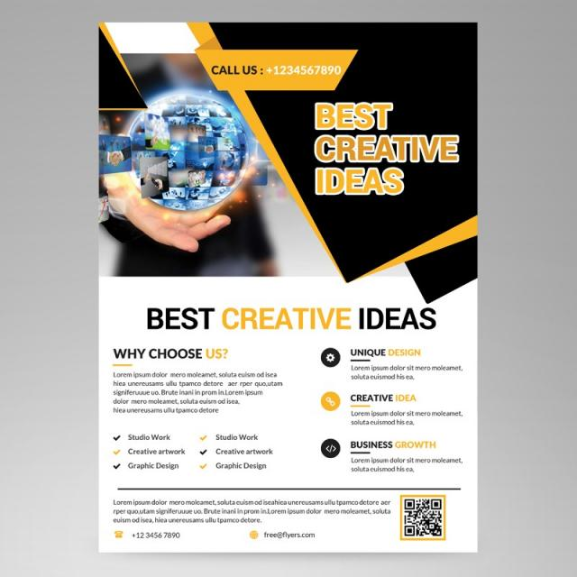 Creative business flyer template for free download on pngtree creative business flyer template cheaphphosting Image collections