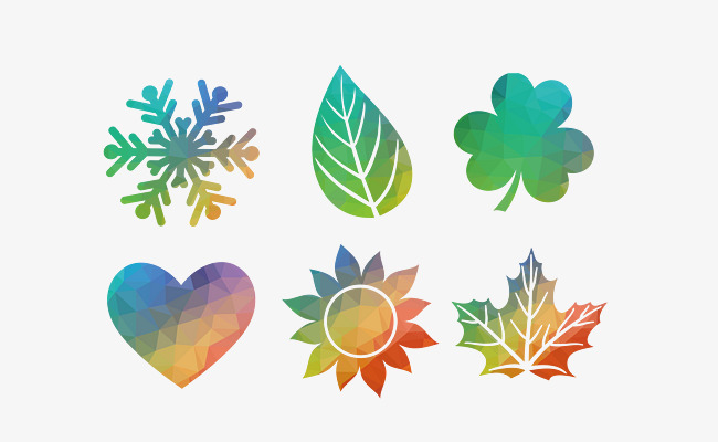 Creative Color Snowflake Pattern Hojas Copo De Nieve Hojas Comienzo ...