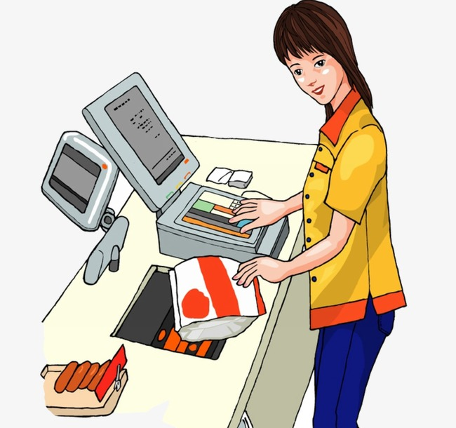 creative people  people clipart  tellers  shop assistant