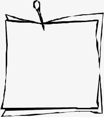 無料ダウンロードのための便箋素材 紙 書く 白黒 Png画像