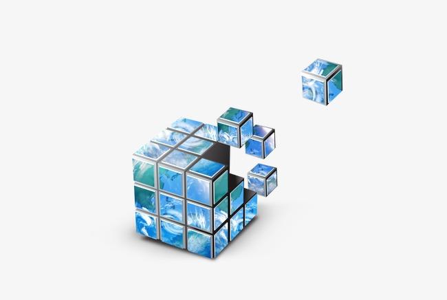 Rubik S Cube Dans La Carte Gratuit PNG Et PSD