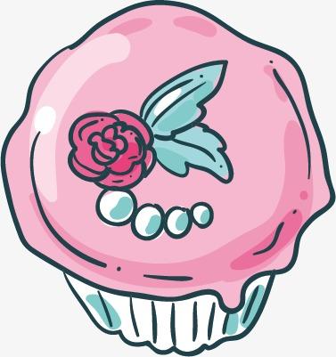 Kaffee Und Kuchen Muffins Dessert Handbemalte Png Bild Und Clipart