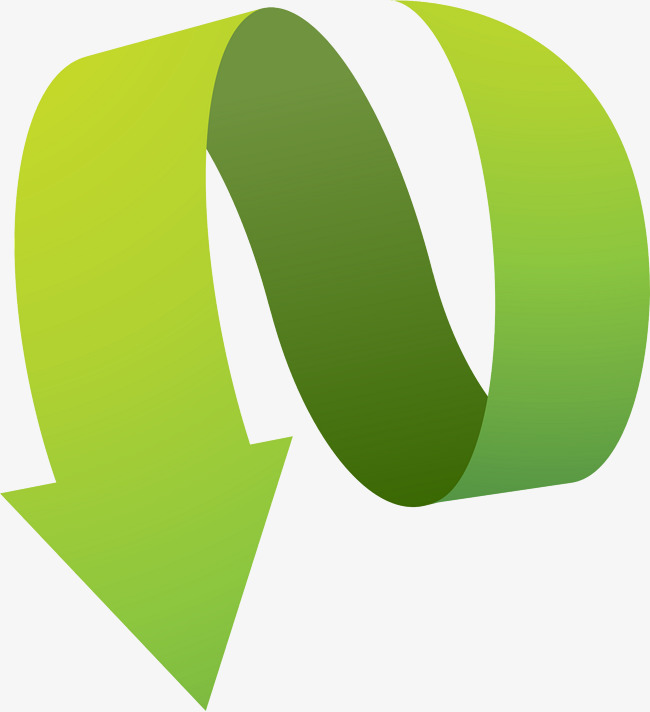 Melengkung Green Arrow Hijau Anak Panah Dinamik PNG dan ...