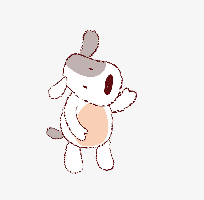 Vector De Dibujos Animados Lindo Perro Cachorro Naughty Dog Los