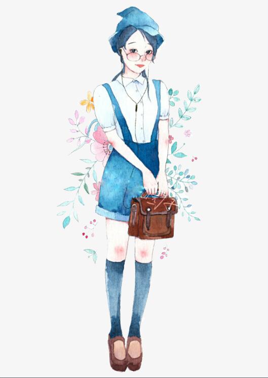 手描き可愛い女の子素材 女の子 かわいい素材 かわいい女の子 Pngとpsd