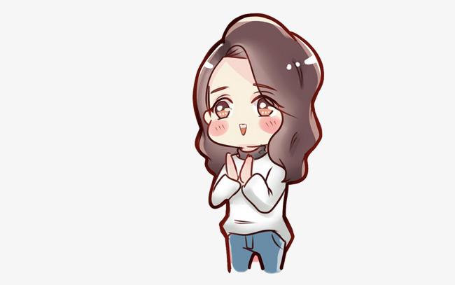 Cute Little Girl Cute Clipart Long Hair Little Beauty Png Image
