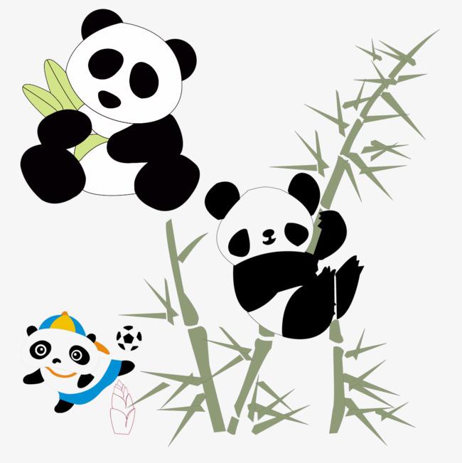 Joli Panda Bambou Noir Blanc Image Png Pour Le Telechargement Libre