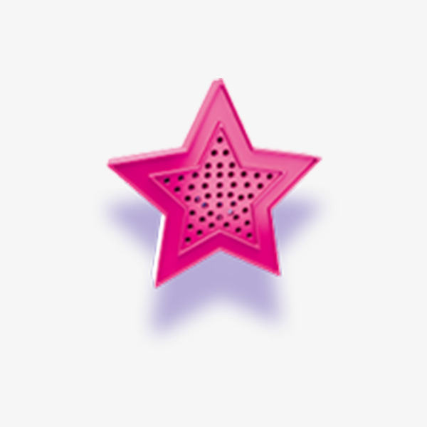 Cute Pink Five Pointed Star Pattern Clipart