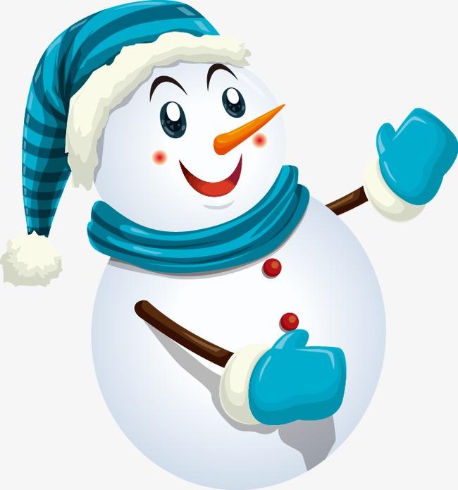 Cute Snowman Patron Traje Azul Lovely Muñeco De Nieve Azul PNG y ...