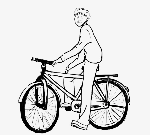 Cyclist Bicycle Shige Cartoon Characters Image And Clipart