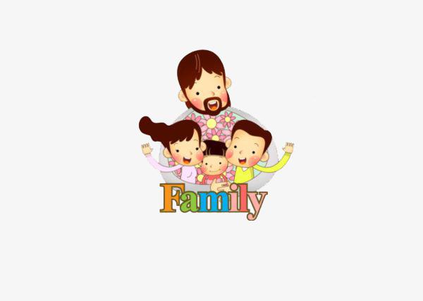 Bức Ảnh Bố Và Ba Đứa Con Một Gia Đình Hạnh Phúc Harmony Hình Ảnh Và
