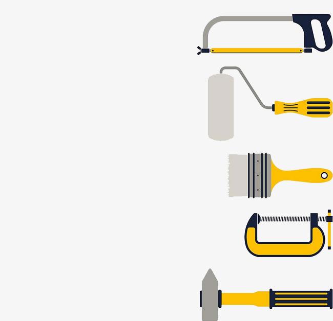 ferramenta de montagem pintar martelo furadeira elétrica arquivo png