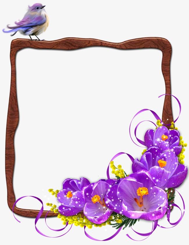 bordure d u00e9corative fleur ruban oiseau image png pour le