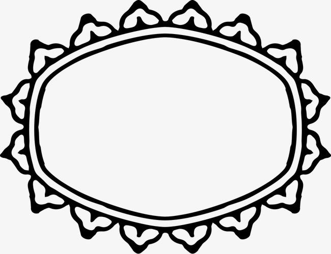 Ornamentali La Cornice Lo Schema In Bianco E Nero Immagine Png E