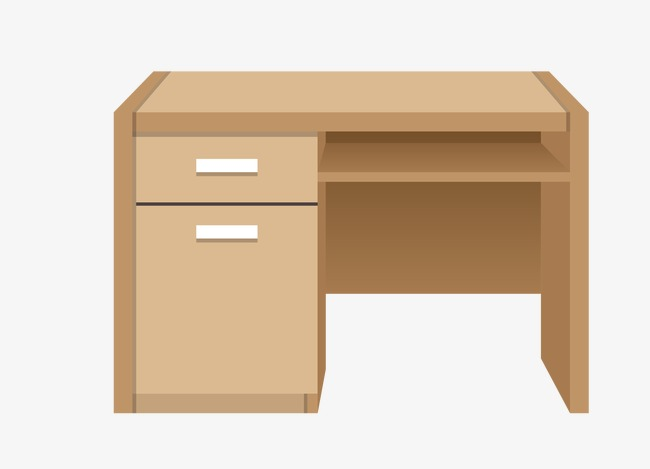 Bureau meubles en bois la maison meuble png et vecteur pour