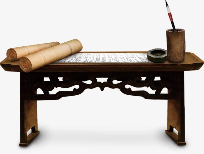 Bureau meuble bois table fichier png et psd pour le téléchargement