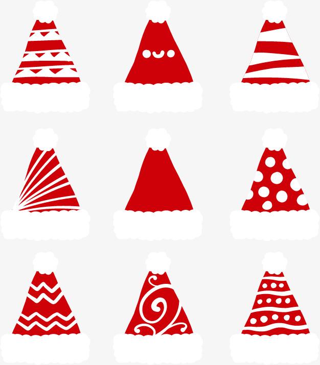 Diferentes Patrones Sombreros De Navidad Rojo Sombreros De Navidad ...