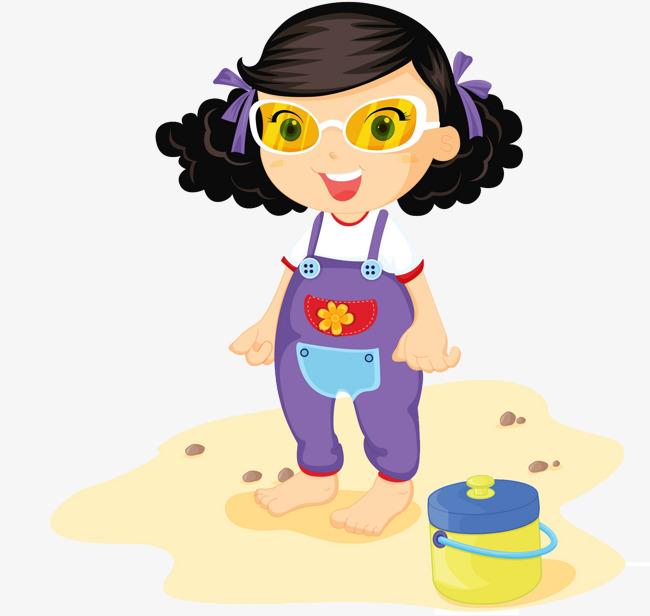 Bei Der Hausarbeit Mädchen Cartoon Locken Wischen Mädchen Png Bild