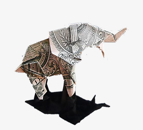 origami elephant dollar images handicraft items from