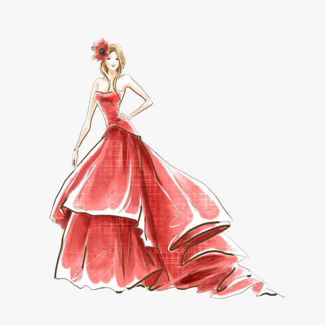 le dessin de filles rouge dessin le cardinal jeune fille fichier png et psd pour le