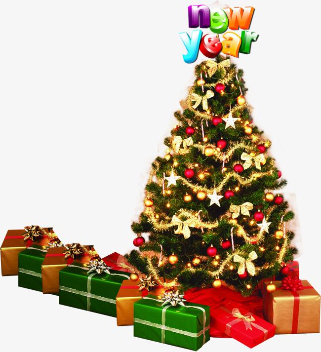 Den Weihnachtsbaum Der Weihnachtsbaum Geschenke Png Bild Und Clipart