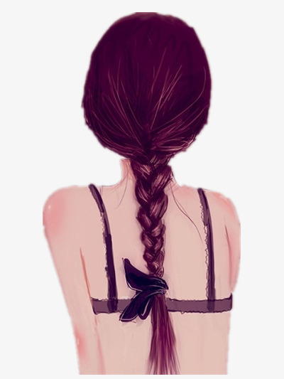 Ecstasy Girl Back Bow Head Portrait Hairstyle Png Image And
