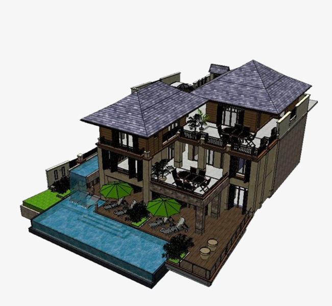 Effect Drawing Chinese Style Building Chinese Clipart Building