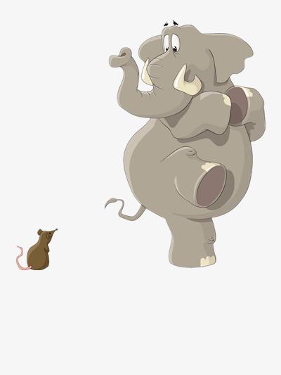 der elefant und maus süß lustig bleib png bild und clipart