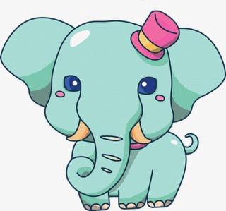 Elefante Animales De Dibujos Animados Animal Elefante Azul Imagen