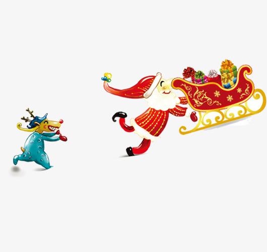 Der Weihnachtsmann Elch Mit Der Weihnachtsmann Der Schlitten Muster
