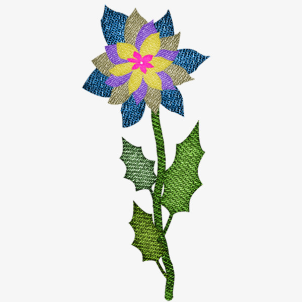 Embroidery Flowers Hand Painted Flowers Embroidery Png Image And