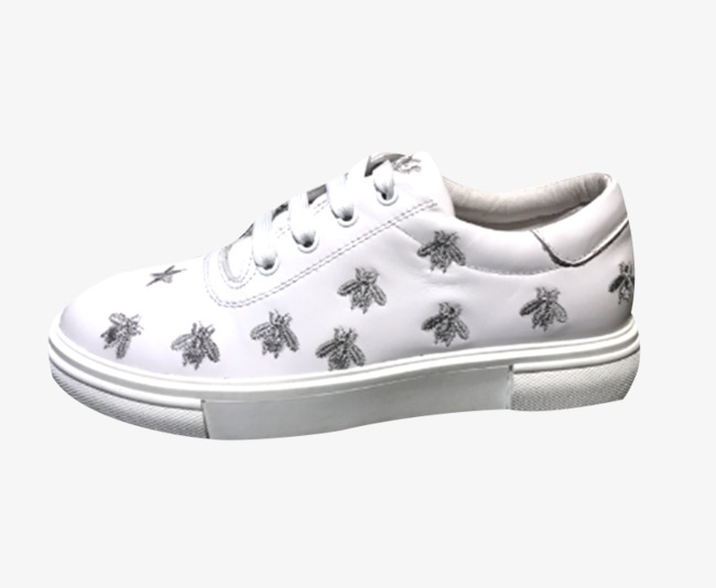 Patron De Los Zapatos De Lona Bordado Blanco Material Pequeños ...