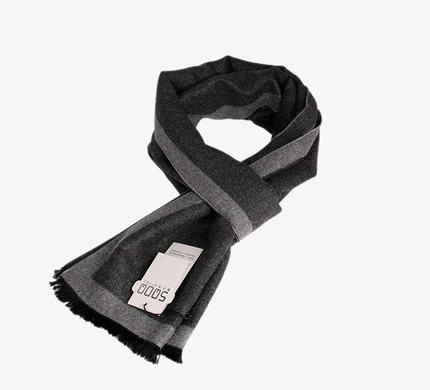 54b4b1a03d9a Gris noir les affaires de soie brossé les hommes le foulard. Gratuit PNG et  Clipart
