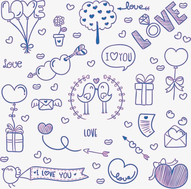 Cartoon Violet D Amour Dessin Mignon Violet Png Et Vecteur Pour