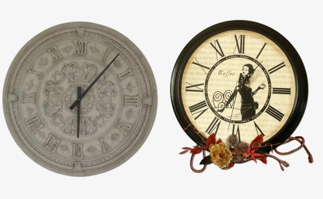 13362d6f1 الطراز الأوروبي على مدار الساعة مع الدانتيل مزينة ساعة الحائط الزخرفية  المبدع ساعة حائط المكتبة ساعة الحائط الرجعية المكتبة PNG وملف PSD للتحميل  مجانا