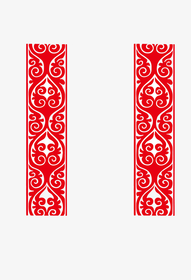 exquisite red vertical line happy new year border line vector new vector border
