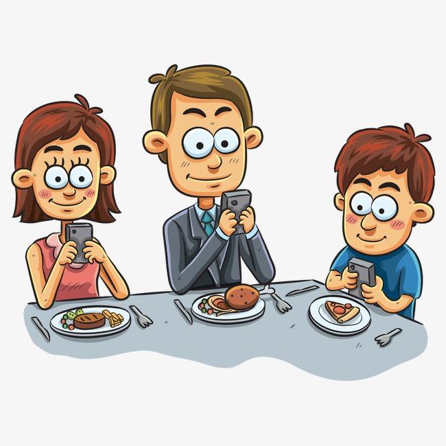 Resultado de imagen para familia con celulares animado