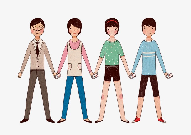 family holding hands family clipart a four family png image and