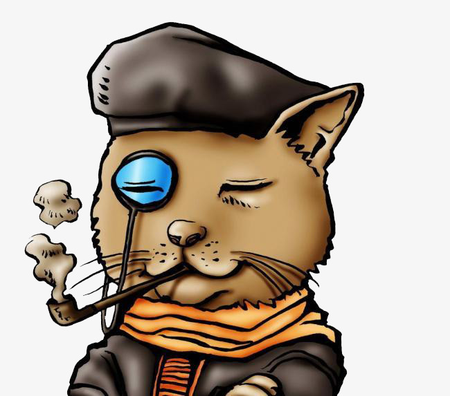 Image result for sherlock holmes cat clipart