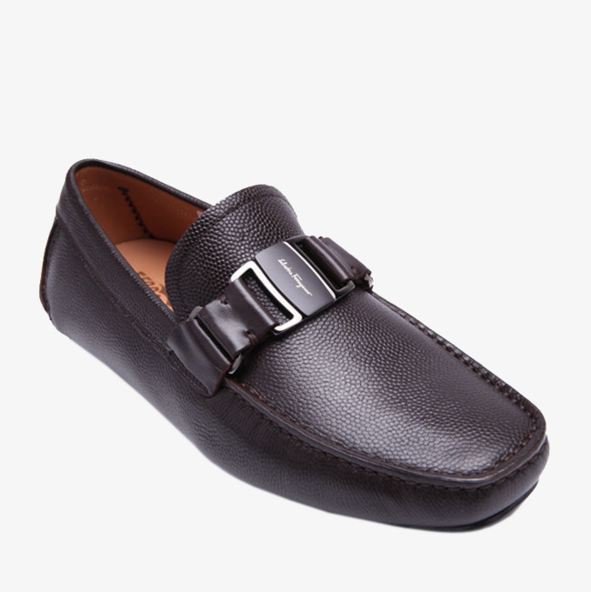 Ferragamo Mens Shoes Brown Salvatore Ferragamo金属装饰 Ferragamo Mens Sapatos  De Couro Marrom Escuro Imagem 7e8dee5439