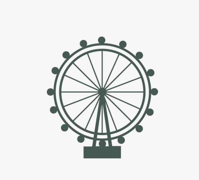 o 237cone de roda gigante verde escuro moinhos de vento