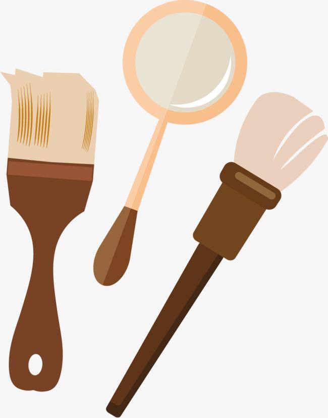 Flache Pinsel Malen Der Spiegel Lichen Material Png Bild Und Clipart