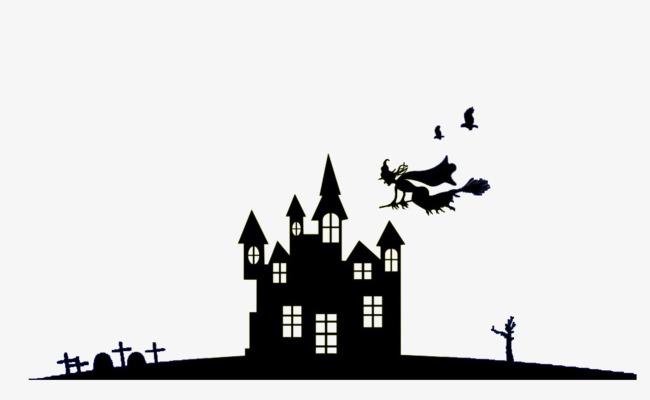 Bruja Flotante Decoración En Blanco Y Negro Halloween Bruja La Noche ...