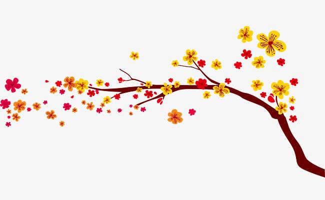 fleurs d ornement fleur des branches couleur image png