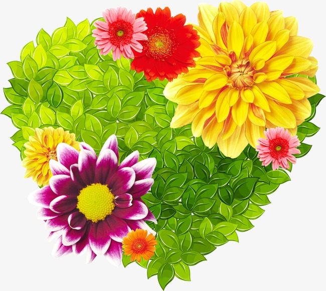 Flowers Heart Shaped Leaves Flowers Leaves Heart Shaped Png
